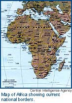 Map Of Africa Bodies Of Water.Mapping Africa Problems Of Regional Definition And Colonial